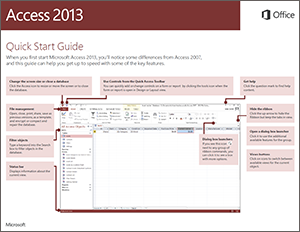 Access 2013 Quick Start Guide