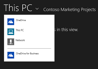 Select OneDrive for Business from another app