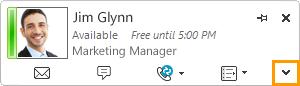 Expand Lync Contact Card