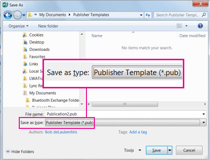 Save your publication as a template for reuse.