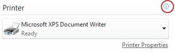 Publisher printer status