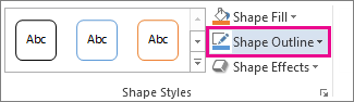 Shape Outline command on the Drawing Tools Format tab