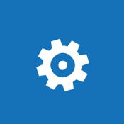 Tile image of a gear to suggest the concept of configuring global settings for a SharePoint Online environment.