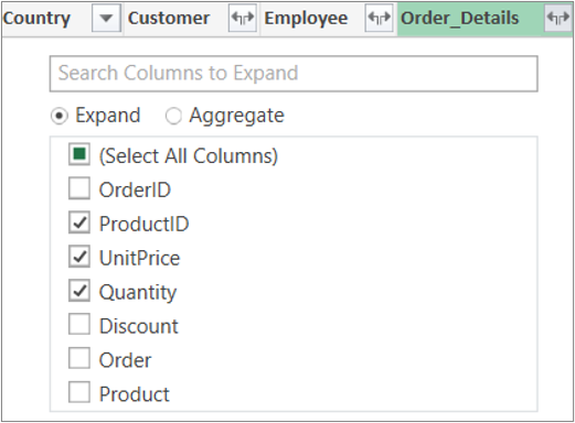 Expand the Order_Details Table link