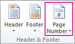 Insert a page number