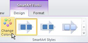 Change the color of your SmartArt graphic.
