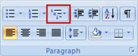 Multilevel List button