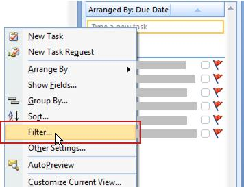 Filter command for To-Do List