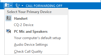 Select your primary device