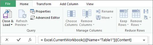 Query Editor Formula Sample