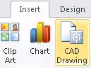 Insert CAD Drawing button