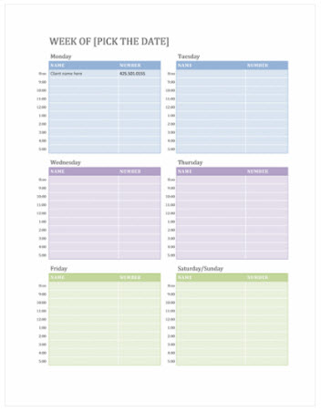 Free weekly calendar templates on officecom excel for Microsoft office weekly schedule template