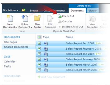 Checking out multiple documents