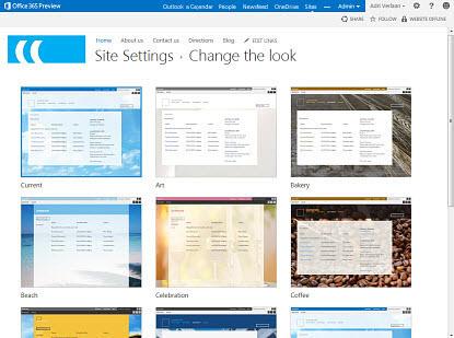 Change public website look