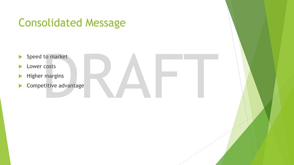 example of a powerpoint slide with draft watermark