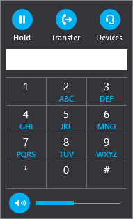 The Skype for Business Transfer Dial Pad