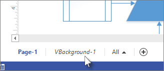 Background tab in Visio