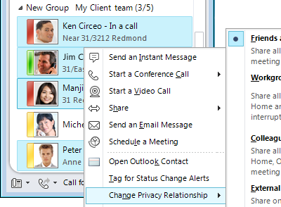 Personalize Contact Information