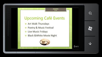 PowerPoint Mobile 2010 for Windows Phone 7: Edit and view from your phone