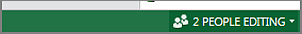 indicator showing how many are collaborating on a spreadsheet