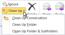 Clean Up command on the ribbon