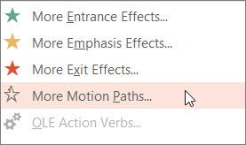 More motion paths