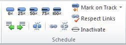Task tab Schedule group
