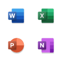 Word, Excel, PowerPoint, and OneNote apps