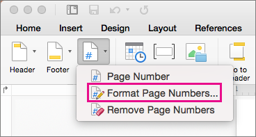 to format page numbers click page number on the header