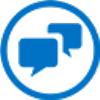 Icon of people chatting