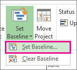 Set a baseline for your project