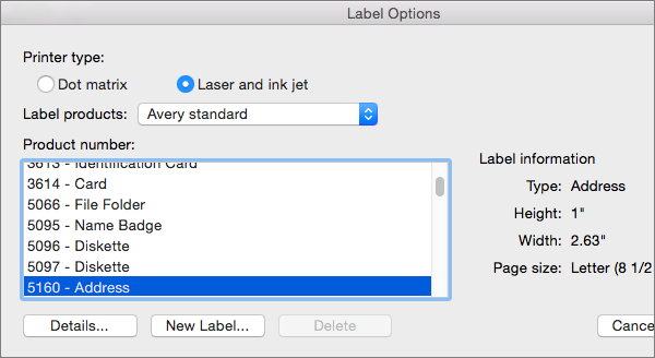 Create and print labels in word 2016 for mac word for mac for How to set up label template in word