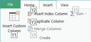 Query Editor Ribbon KeyTips