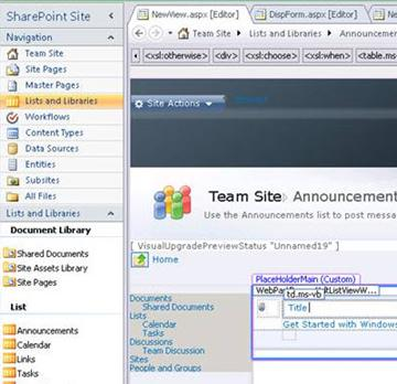 Createw a view in Microsoft SharePoint Designer 2010