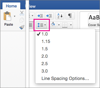 how to change title line spacing in word 2013