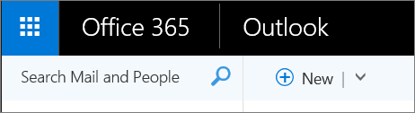 This is what the Outlook web ribbon looks like.
