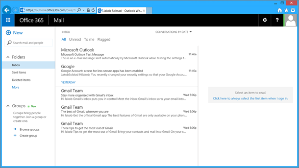 After you import email from the pst file, it will appear in OWA too