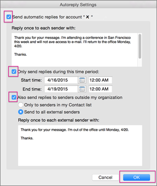 How to turn on out of office in outlook 2010 out of for Out of office message outlook 2010 template