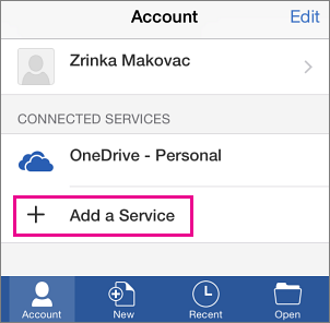 how to add a second onedrive account