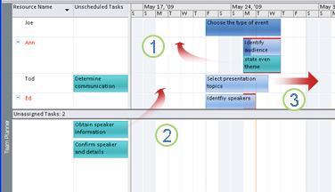 Moving tasks on Team Planner