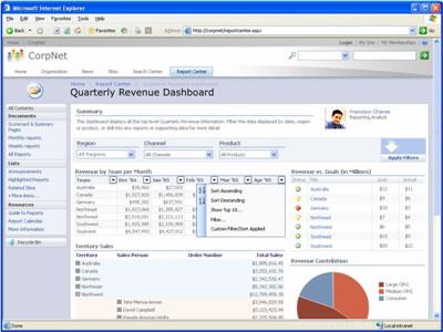 office excel 2007 browser integration
