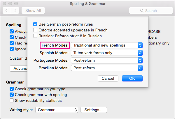 Mac spell checker