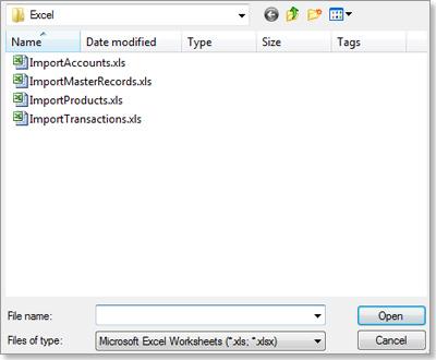 Select Excel workbook