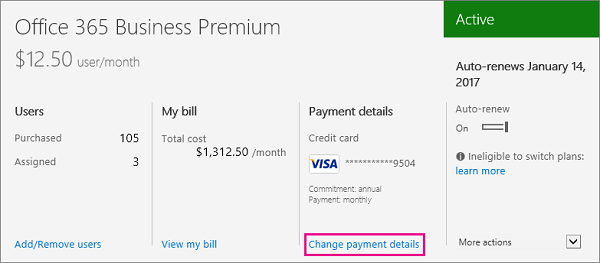 how to change credit card for fb billing
