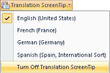 Turn Off Translation ScreenTip