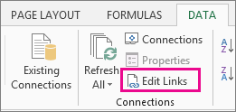 excel how to find external links