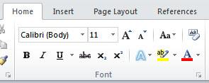 Font Group
