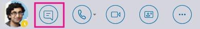 Quick IM button