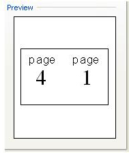 Booklet Print Setup preview