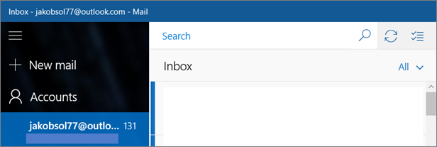 A picture of what the Mail ribbon looks like in Windows 10.